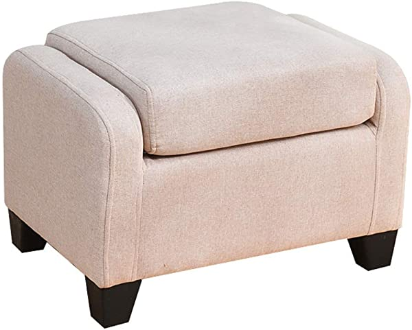 ZRX Footstool Ottoman Creative Lazy Couch Soft Cushion Low Stool Stool Makeup Bench Suitable For Living Room Bedroom Beige