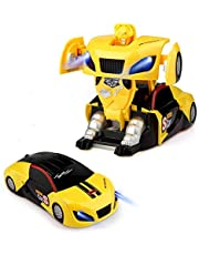 Baztoy Afstandsbediening Robot Auto, Kinderspeelgoed Transformatie RC Car Oplaadbaar Led-licht Muur Stunt Auto Voertuig Speelgoed Verjaardag Cadeau voor Kinderen Jongens Meisjes 3-12 Jaar Spellen