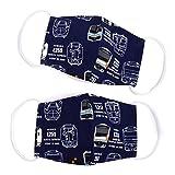 マスク 2枚セット 子供用 銀イオン抗菌ガーゼ 電車コレクション※JR東日本商品化許諾済 N5323502 ホワイト