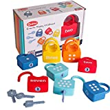 Dinhon Kids Learning Locks with Keys Numbers Matching & Counting Montessori Educational Toys for Ages 3 yrs+ Boys and Girls Preschool Games Gifts