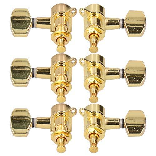 Salaty Sintonizadores de Cuerdas, Clavijas de afinación de Guitarra prácticas y duraderas, para Viejos Rotos(Golden)