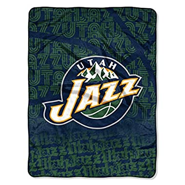 The Northwest Company Officially Licensed NBA Utah Jazz Redux Micro Raschel Throw Blanket, 46  x 60