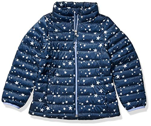Amazon Essentials Hooded Puffer Jacket Outerwear-Jackets, Estrella, azul marino, S
