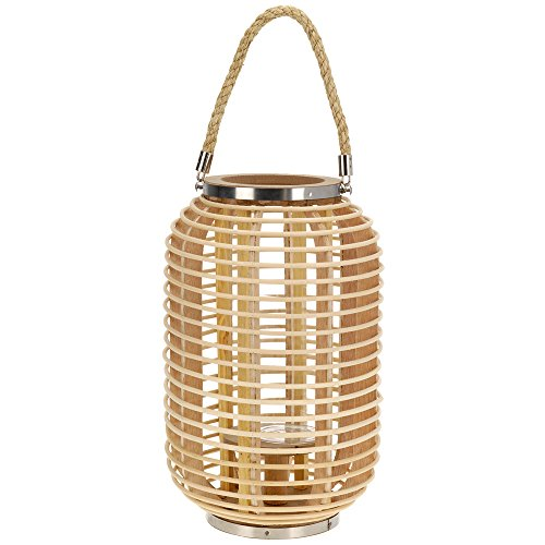 Home @ Styling Collection Laterne Kerzenhalter aus Bambus 38x24x24