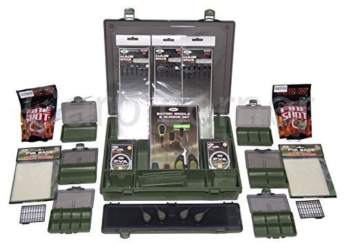 Carp Fishing Tackle Box Loaded With PVA Leads Rigs Wallet Small Boxes Baiting by Carp-Corner