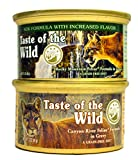 Taste of the Wild Cat Food Variety Pack (Rocky Mountain Feline with Salmon and Roasted Venison Formula & Canyon River Feline Trout and Salmon Formula) 6 of Each Flavor (3oz Variety Pack)