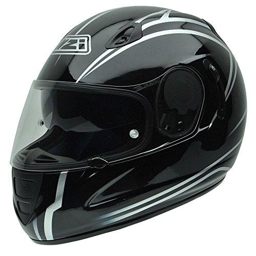 NZI Premium S Graphics Profile Motorradhelm, Weiß/Schwarz, 60-61 cm
