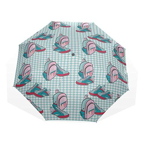 Parapluie pour Hommes, Belles Chaussures de Toile Haut de Gamme décontractées, 3 parapluies d'art (Parapluie de Pluie pour garçons, Parapluie léger pour Filles