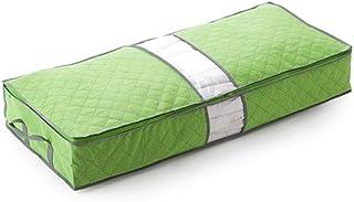 LDCP Sac de Rangement Organisateur de Chambre à Coucher sous Le lit Boîte de Gris pour couvertures à vêtements 3 pièces, Vert
