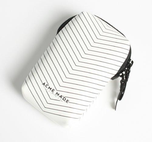 Acme Made Smart Little Pouch Kameratasche weiß glänzend/chevron