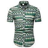 CICIYONER Herren Hawaiihemd Hawaiishirt Urlaub Hemd Strandhemd Freizeithemd Hawaii-Print mit Kurzarm M L XL 2XL 3XL 4XL 5XL
