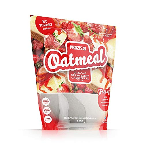 Prozis Oatmeal - Cereales Repletos de Proteínas, Hidratos de Carbono de Alta Calidad y Fibras Saciantes - Sabor Tarta de queso con fresas - 1250 g