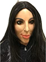 Realistic Female with Long Hair Striking Women Celebrity Mask Human Face Disguise Halloween Costume