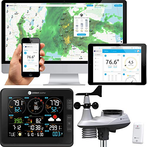 Ambient Weather WS-2902A Smart WiFi Weather Station w// Remote Monitoring Alerts