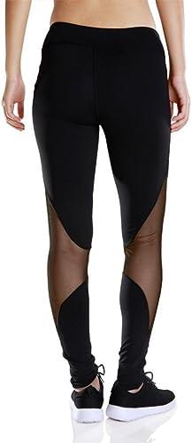 MNII Net Yarn épissage Fitness FonctionneHommest Pants Yoga Dance Tight Pants Femmes- VêteHommests de Sport