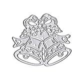 Fablcrew. Fustella a Forma di Campana di Natale, Stencil Quadrati, per bricolage, Album, Carta