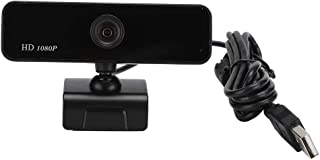 Eboxer Webcam 1080P, Clip-on HD PC Camera, Built-in Microphone,2M Pixels, 360° Rotating for Computer Laptop Desktop for YouTube Video Broadcasting, Compatible with Windows 7/8 / XP/10/2000