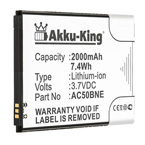 Akku-King Akku kompatibel mit Archos AC50BNE, AC50BNE - Li-Ion 2000mAh - für 50b Neon, Neon 50b
