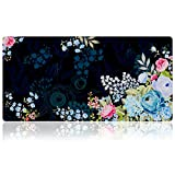 "Extra Large Mouse pad - Flower Design Gaming or Desk Mouse pad - 31.5"" x 15.7""x0.12"