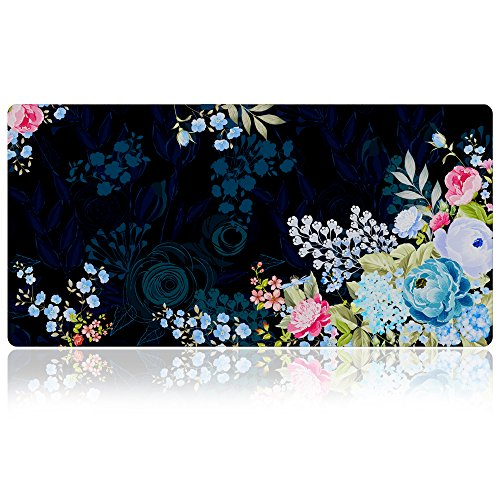 Extra Large Mouse Pad - Floral Design Gaming or Desk Mousepad - 31.5' x 15.7'x0.12''(3mm Thick)- XXL Protective Keyboard Desk Mouse Mat for Computer/Laptop-Peony