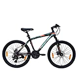 Firefox Kreed 24T -21 Speed Mountain Cycle (Matt Black) I Disc Brake I Ideal for : 9-12 Years I Frame Size: 14' I Rider Height : 4.6 feet to 5.6 feet