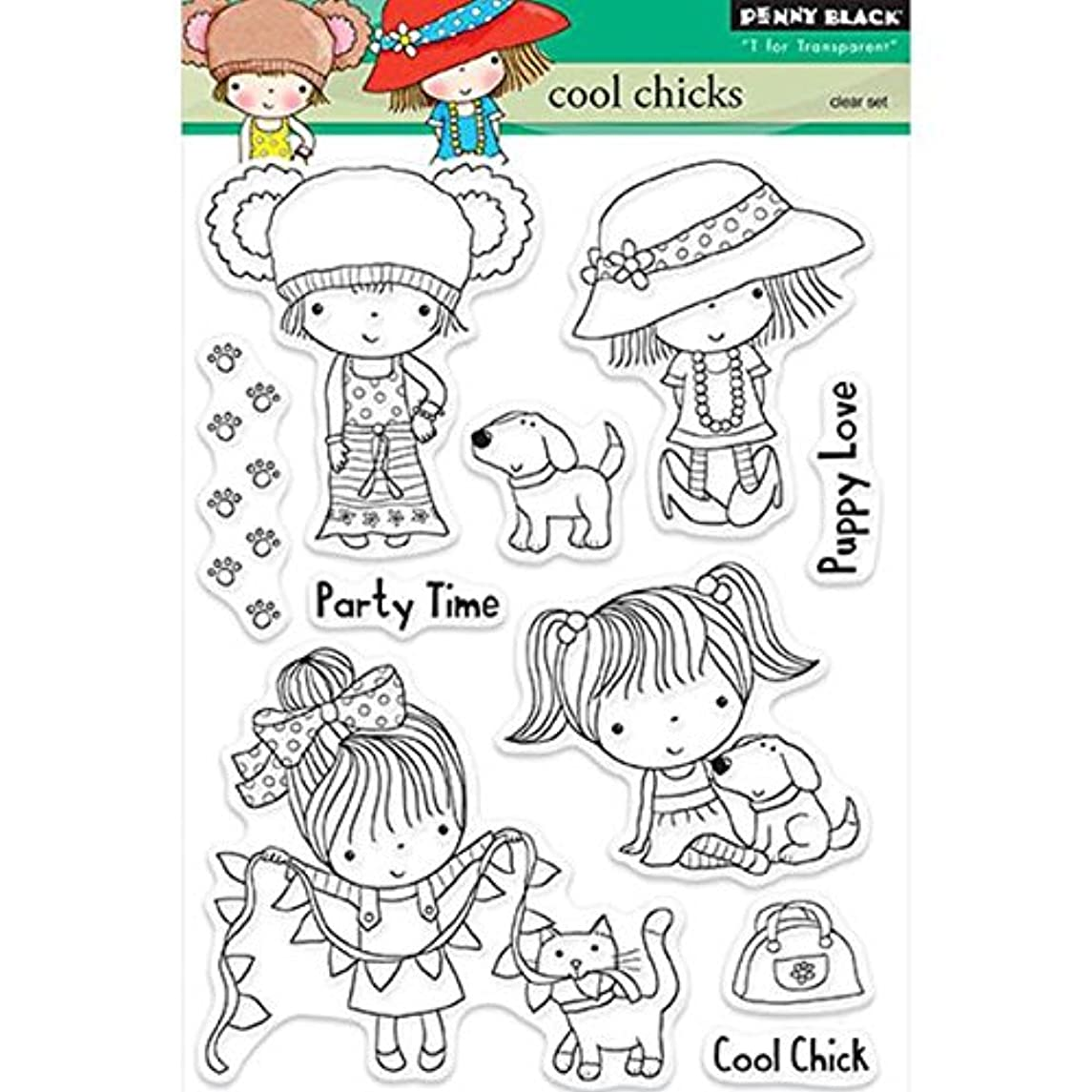 Penny Black 30-231 Cool Chicks Decorative Stamp