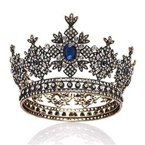 JCCOZ - URG Bride Super Fairy Princess Wedding Tiara Crown, Fashion Queen Crowns, for Wedding/Birthday/Party URG