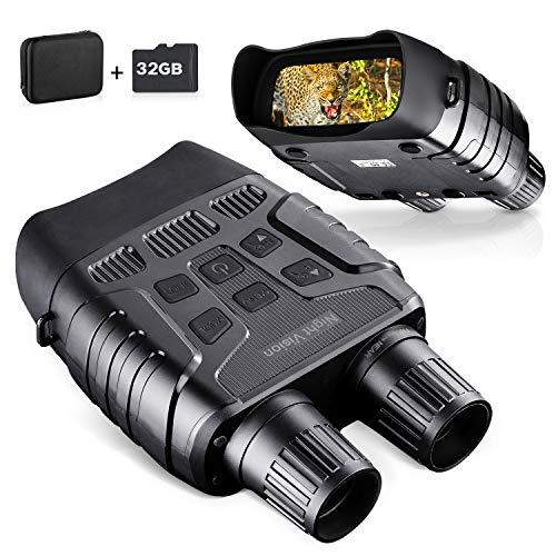 BNISE Binocolo visione notturna HD Digitale per adulti - 2.31' TFT LCD e 32G Micro SD Carta Professionale Telecamera Videocamera a Infrarossi Per La Caccia