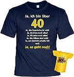 Goodman Design Geschenk 40 Set T-Shirt 40.Geburtstag + Minishirt : Ja, ich Bin über 40! Ja, die...