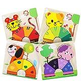 XDDIAS Puzzles de Madera Educativos, Juguetes Montessori para Bebé niños 1 2 3...