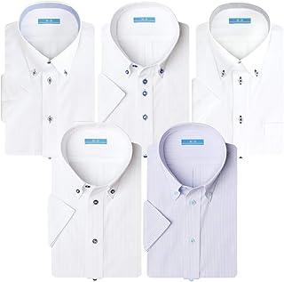 (アトリエ 365) 夏 半袖 ワイシャツ 5枚セット クールビズ ビジネス イージーケア 形態安定 Yシャツ/sa02-ats