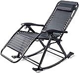 Leichte klappbare Gartenstühle mit Sonnenliege Sonnenliege, Schaukelstuhl mit Liege, klappbare Siesta-Sonnenliegen für ältere Menschen