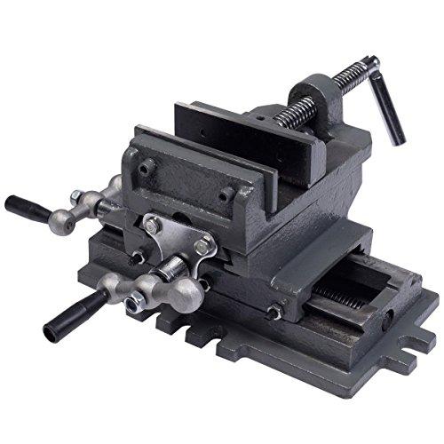 "Goplus GP-101040148 4"" Cross Slide Drill Press Vise X-Y Compound Vise Cross Slide Metal Milling 2 Way HD"