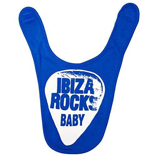 Ibiza Rocks Bavoir de Bébé Plectre 2017 - Bleu, Taille Unique