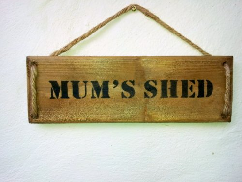 duckeggbluedesigns.com Wall Plaque-Mum's Shed