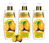 Lemon with Tea Tree Extract Shampoo Dandruff Defense Shampoo ALL Natural Shampoo Paraben Free Sulfate Free Scalp Therapy Moisture Therapy Suitable for All Hair Types Value Pack of 3 X 11.8 Ounces - Vaadi Herbals