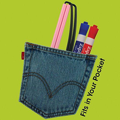 i concerti ZipSign lo striscione Si arrotola automaticamente bordo blu riutilizzabile si adatta alla tasca portatile Ideale per lo sport lo spirito di squadra si srotola a 24x68 cm