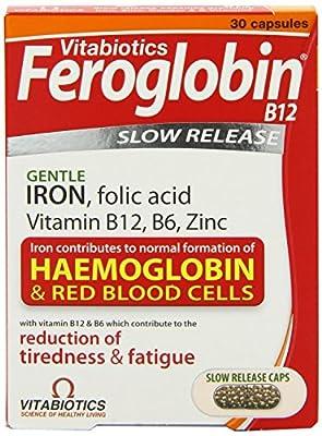THREE PACKS of Vitabiotics Feroglobin B12 Slow Release Capsules x 30 from VITABIOTICS