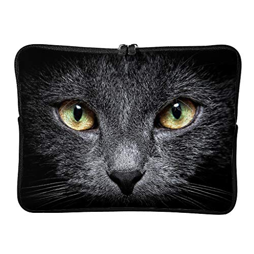 Dragon cat face Laptop Bag Waterproof High Capacity Zipper Multi-Functional Stationery 10-17 Inch for Men Women White 15 Zoll