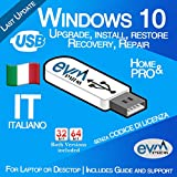 EVM ™ - Windows 10 Pro & Home 32&64 bit SENZA CODICE DI LICENZA Italiano / Italian