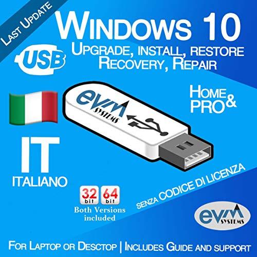 EVM ™ - Windows 10 Pro & Home 32&64 bit SENZA CODICE DI LICENZA Italiano / Italian