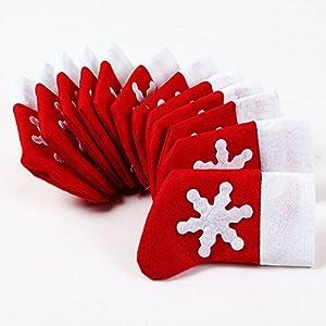 Bei Wang x 12 Socken von Weihnachten Silberhaltertaschen