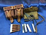 ESKS Original Mosin Nagant Ammo Pouch, Cleaning Kit, and 5 Stripper Clips