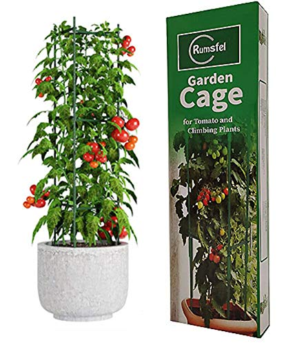 Rumsfel Garden Plant Support Cages, Tomato Growing Cage, Sturdy Garden Plant Support Stakes, Garden Trellis Vertical Climbing Plants Support Climbing (A Group)