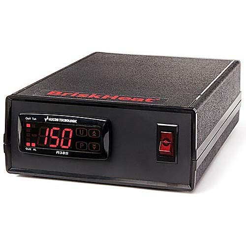 BriskHeat SDXJA, SDX Digital PID Temperature Controller with Type-J Thermocouple, 2m Power Cord and NEMA 5-15 Plug, 100-125 VAC