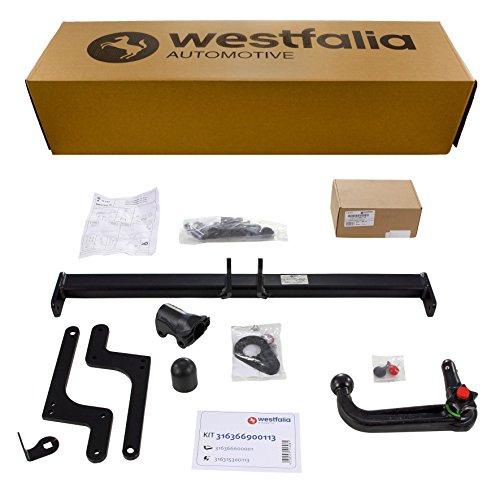 Westfalia Abnehmbare Anhängerkupplung - AHK für Dacia Duster (BJ 03/2010 - 12/2017) im Set mit 13-poligem fahrzeugspezifischen Elektrosatz