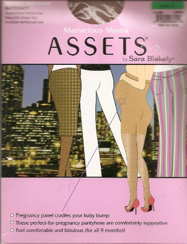 ASSETS by Sara Blakely, Marvelous Mama, Perfect Pantyhose, Maternity, Size 3, Nude