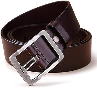 e1bdb57a2 Elibone 100% Cowhide Genuine Leather Belts for Men Brand Strap Male Pin  Buckle Fancy Vintage