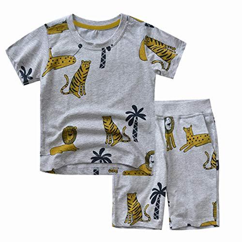 Camiseta Para Niños Infantil Estampado De Tigre 100% Algodón De Mang