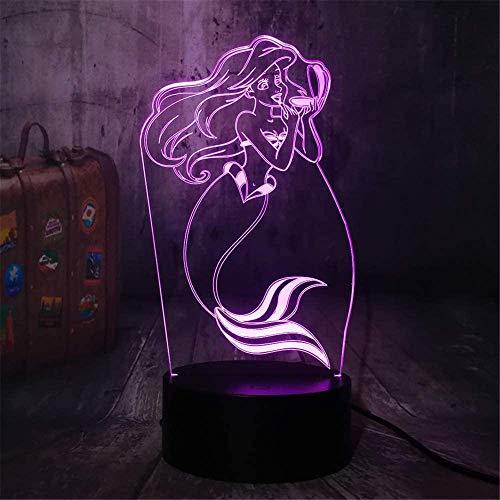 Schönes 3D-Nachtlicht für Schreibtischlampe mit USB-Aufladung, für Schlafzimmer, Wohnzimmer, Innendekoration, mit Fernbedienung